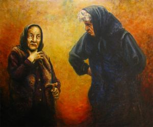 Oil on Canvas 'In the old age' by Glozic Milan