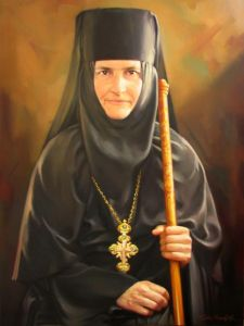 Oil on Canvas 'Prioress' by Sretenovic Miroljub