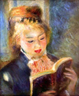 A reading girl 2 - Šifra: Pierre-Auguste Renoir - PAR05