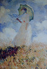 Lady with umbrella - Šifra: Claude Monet - CM18