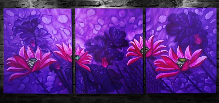 Purple Dream (Triptych)