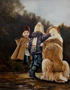 Kids with a Dog