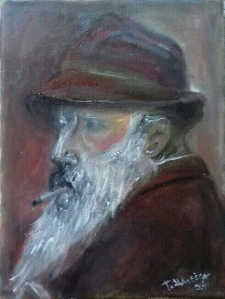 Replika na portret Claude Monet